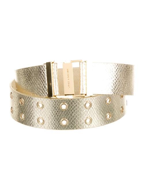 Michael Kors Leather Waist Belt Gold - image 1
