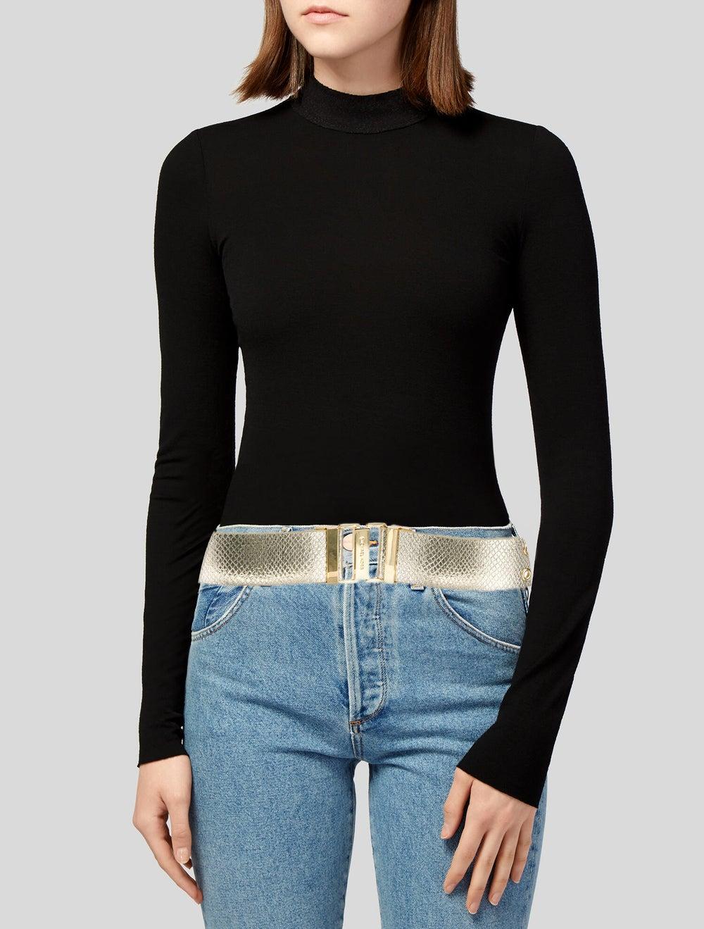 Michael Kors Leather Waist Belt Gold - image 2