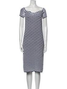 Michael Kors Striped Knee-Length Dress