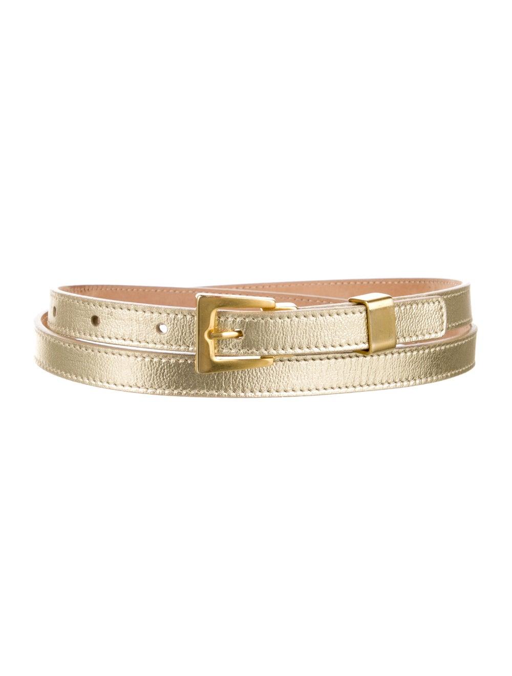 Michael Kors Skinny Leather Belt Gold - image 1