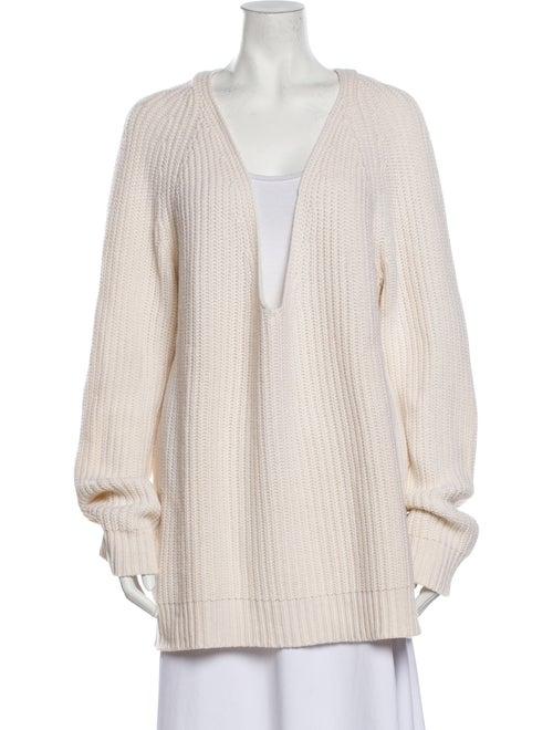 Michael Kors Cashmere Plunge Neckline Sweater