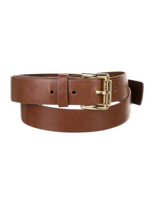 Michael Kors Skinny Leather Belt Brown