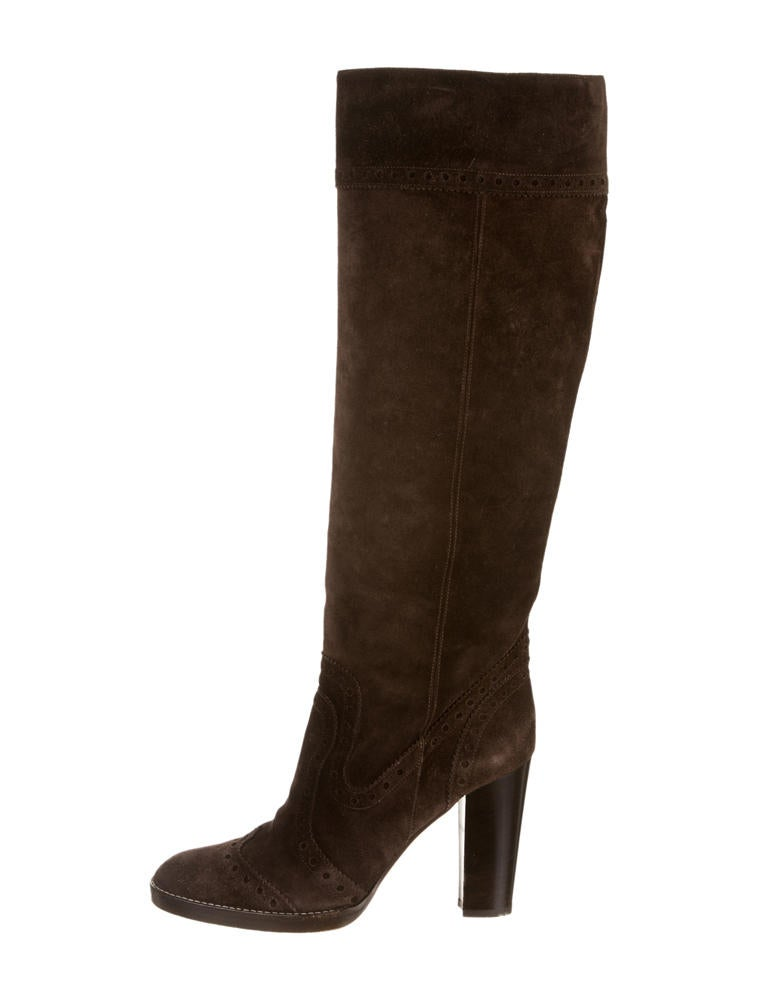 michael kors suede boots shoes mic22234 the realreal