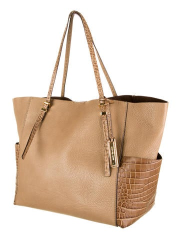 Gia Embossed Croc Tote