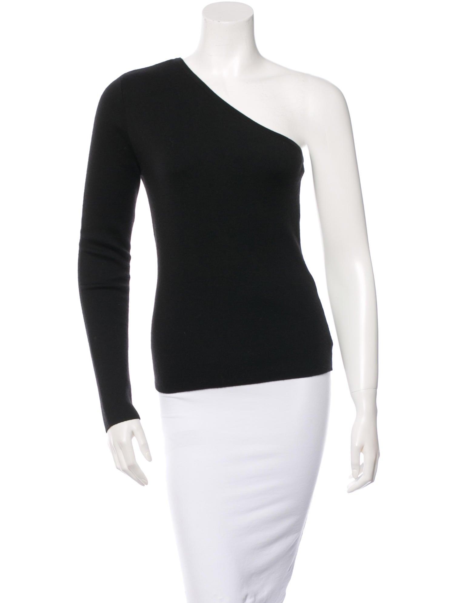 michael kors one shoulder cashmere sweater clothing. Black Bedroom Furniture Sets. Home Design Ideas