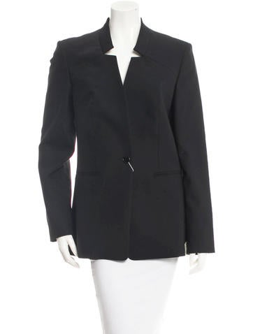 Michael Kors Wool Single-Button Blazer w/ Tags None