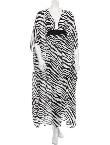 Zebra Print Silk Kaftan