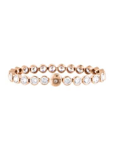 Rose Gold-Tone Tennis Bracelet