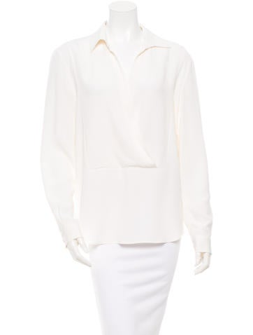 Michael Kors Surplice Silk Top None