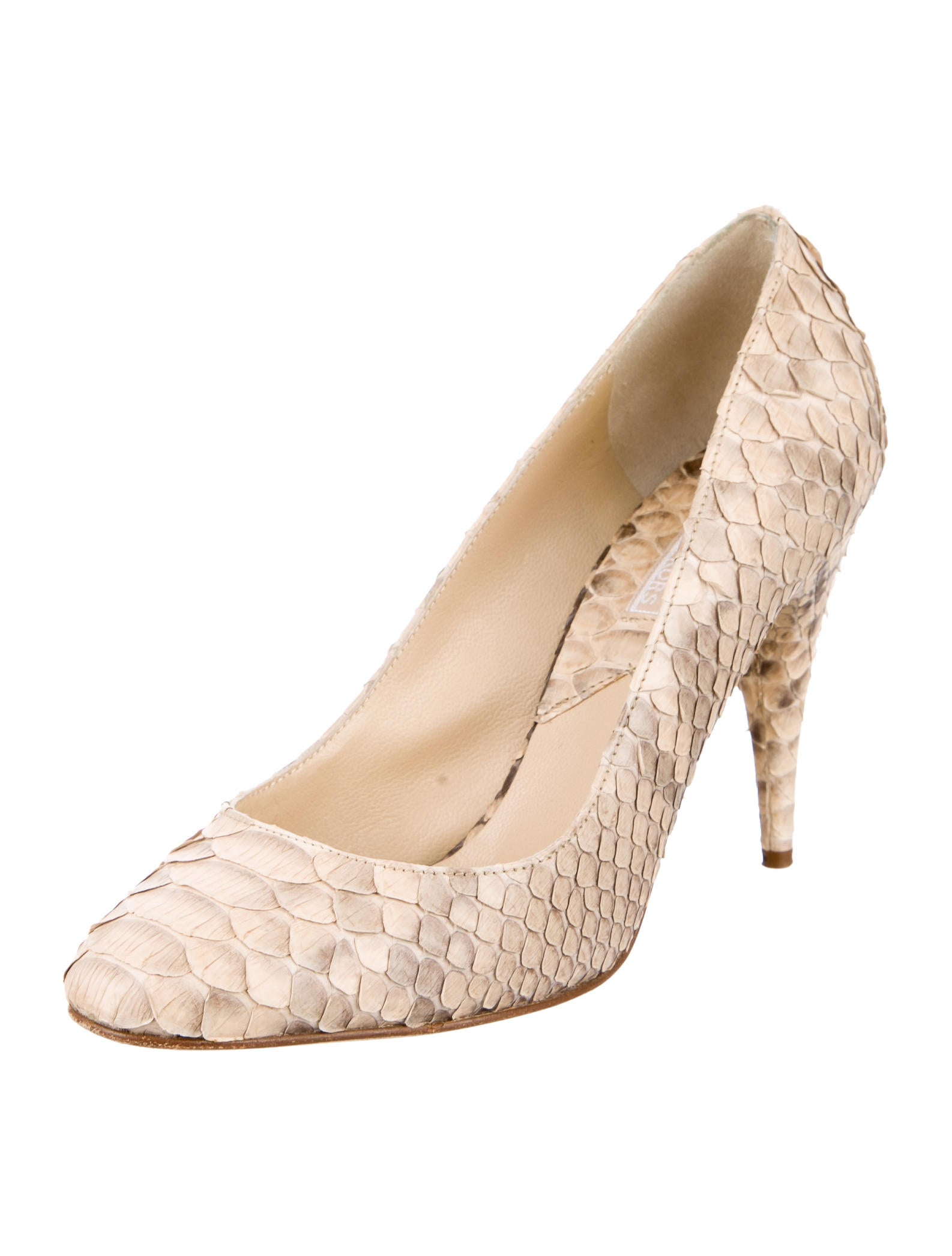 michael kors python round toe pumps shoes mic36498 the realreal. Black Bedroom Furniture Sets. Home Design Ideas