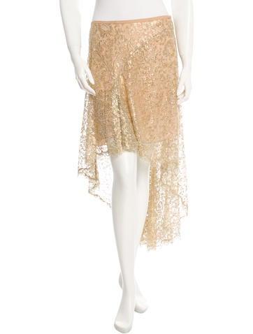 Michael Kors Metallic High-Low Skirt w/ Tags None