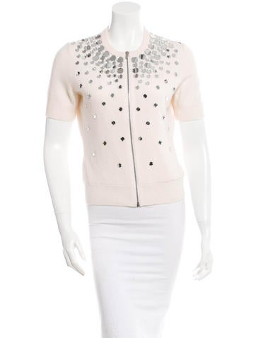 Michael Kors Embellished Cashmere Sweater None