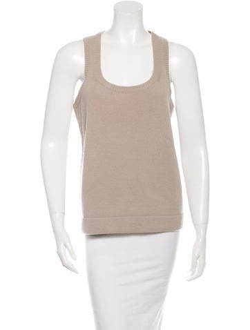 Michael Kors Cashmere Knit Sleeveless Top None