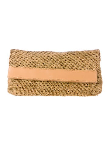 Straw Fold-Over Clutch