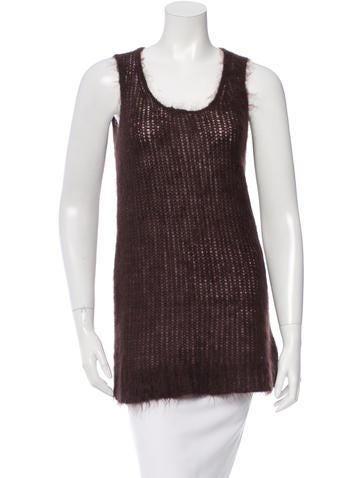 Michael Kors Sleeveless Open Knit Top w/ Tags None