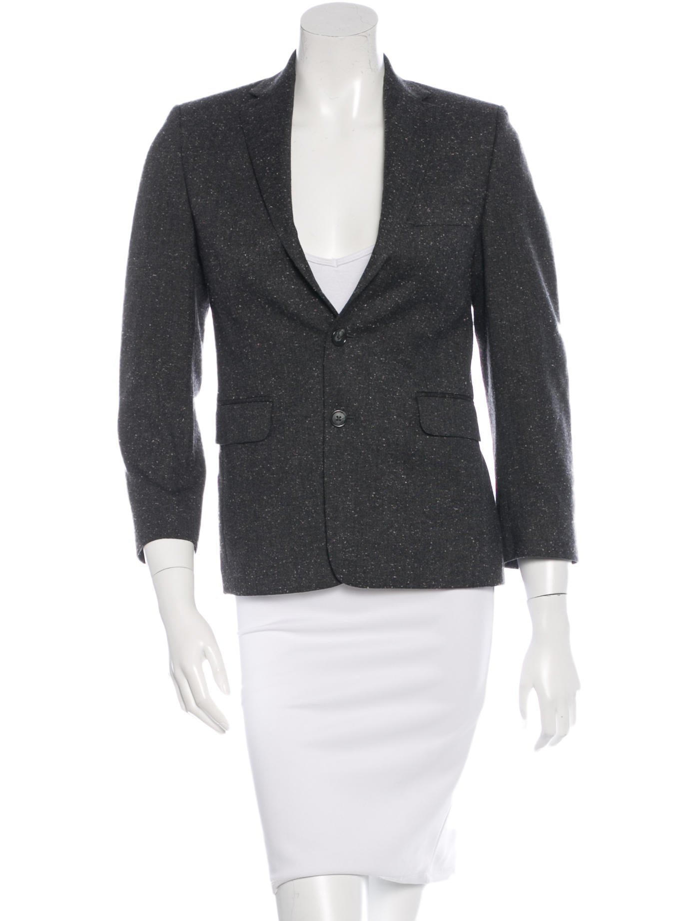 michael kors wool textured blazer clothing mic39194 the realreal. Black Bedroom Furniture Sets. Home Design Ideas