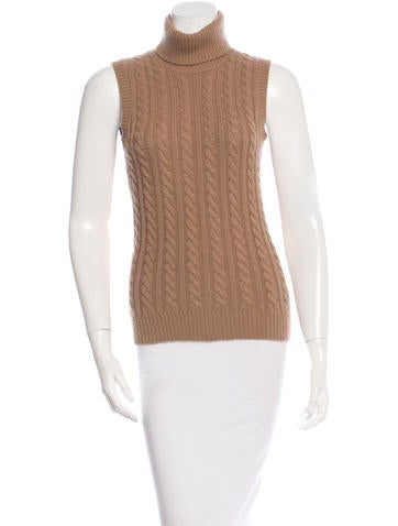 Michael Kors Wool Knit Sleeveless Top None