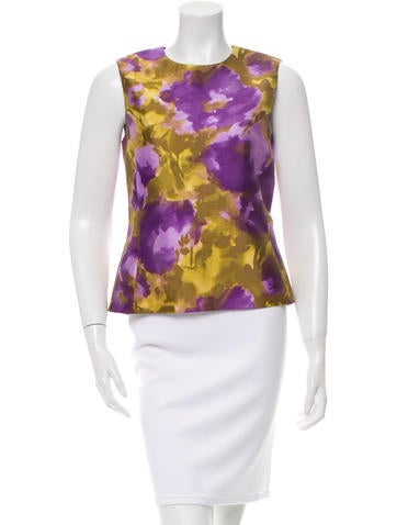 Michael Kors Wool & Silk-Blend Top None