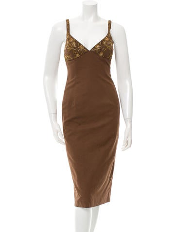 Michael Kors Sleeveless Embellished Dress None