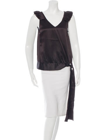 Michael Kors Silk Sleeveless Top None