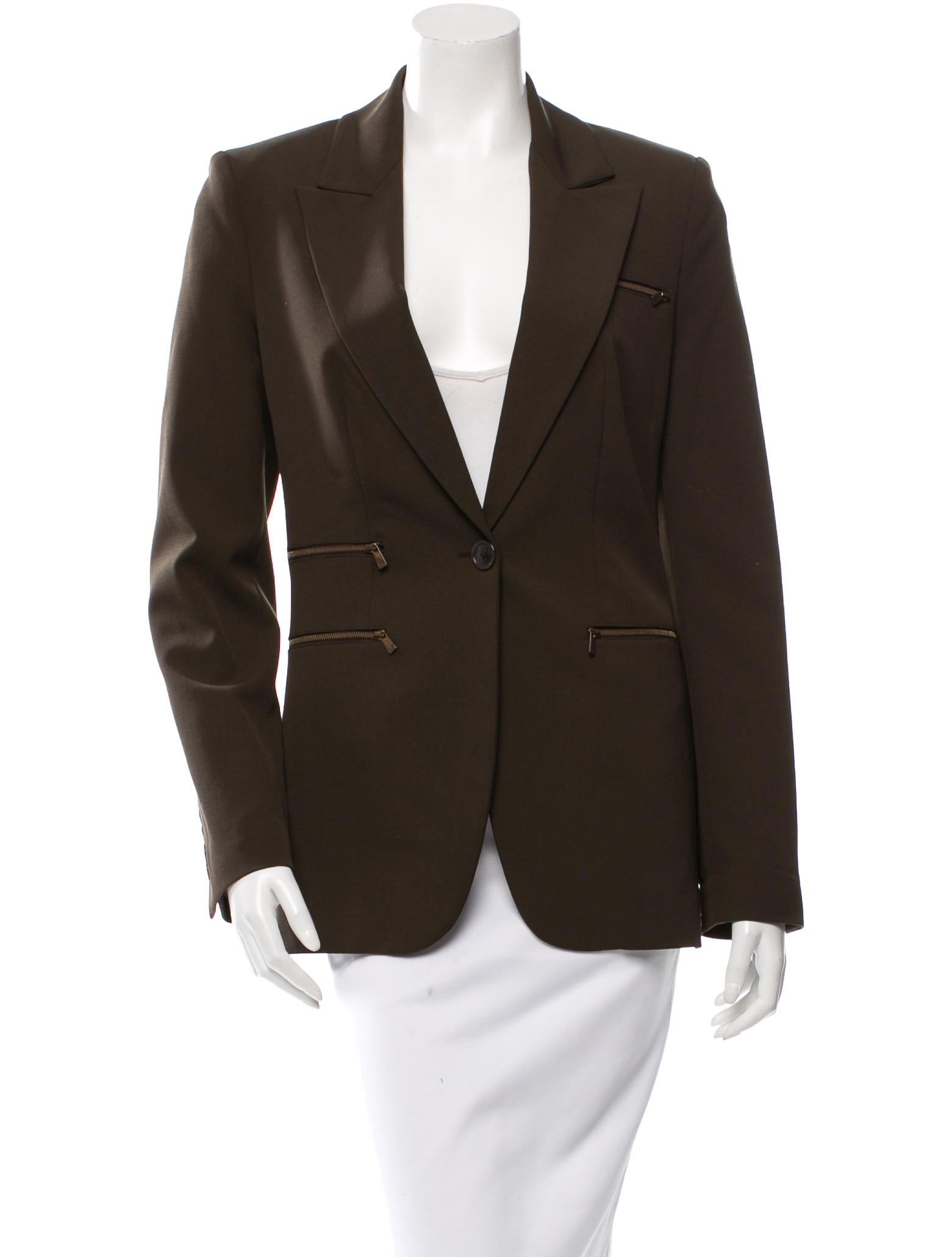 michael kors wool notch lapel blazer clothing mic40013 the realreal. Black Bedroom Furniture Sets. Home Design Ideas