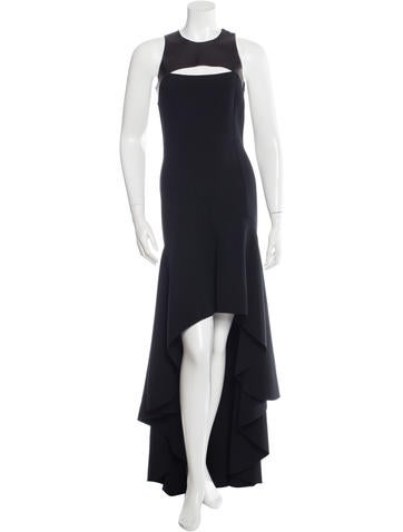 Michael Kors Sleeveless Wool Gown None