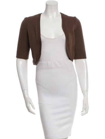 Michael Kors Cashmere Short Sleeve Bolero None