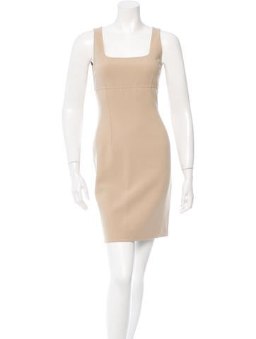Michael Kors Wool Sleeveless Dress None