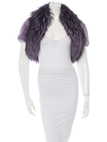 Michael Kors Dyed Mink Bolero None