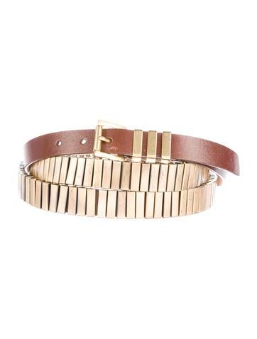 Michael Kors Embellished Leather Belt None