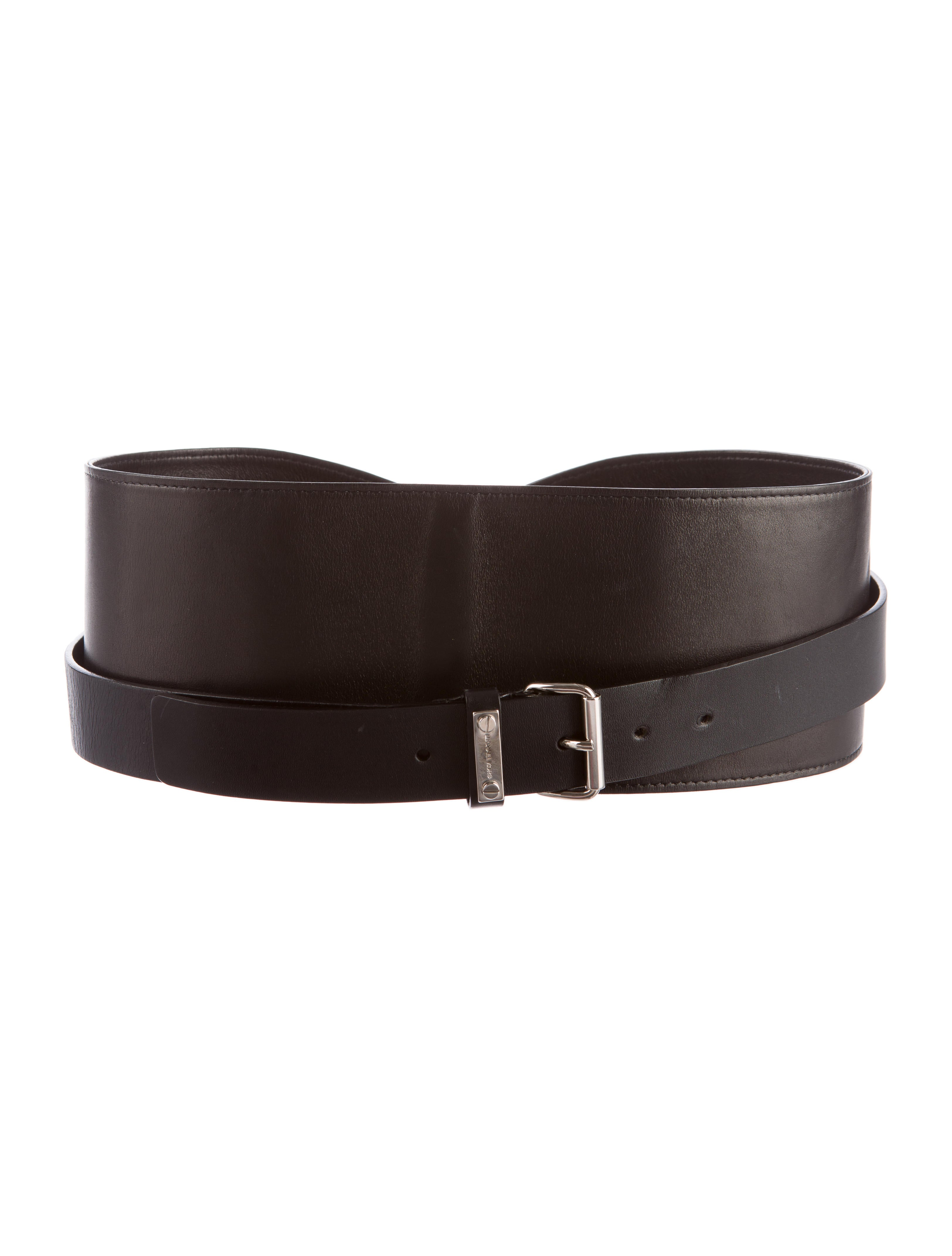 michael kors leather wrap around waist belt accessories