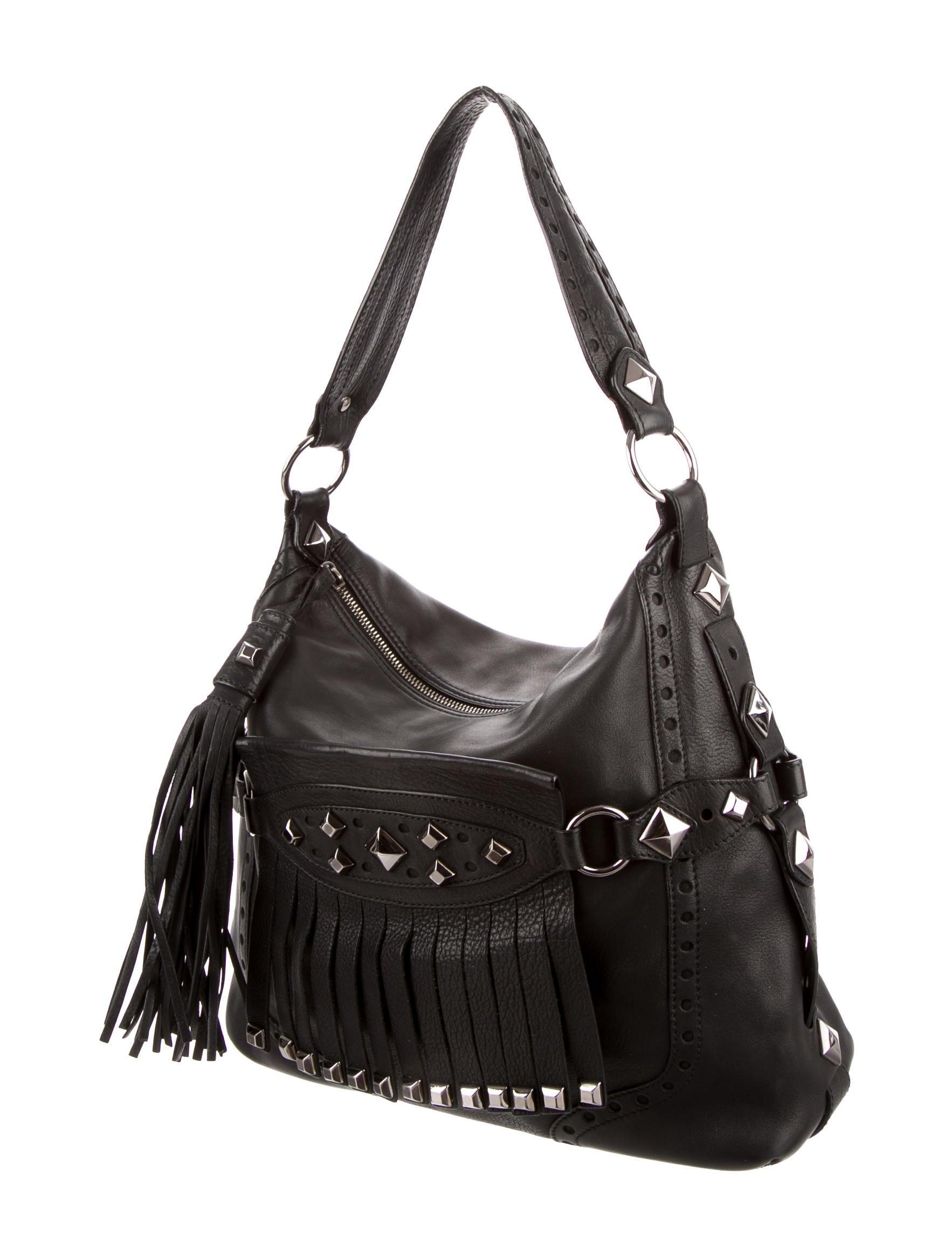 michael kors leather studded shoulder bag handbags