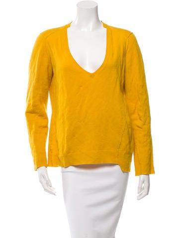 Michael Kors V-Neck Rib Knit Sweater None