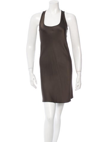 Michael Kors Satin Sleeveless Dress