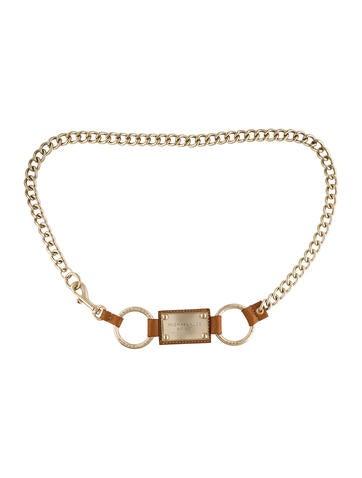 Michael Kors Metallic Chain-Link Belt