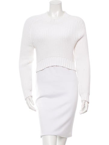 Michael Kors Crew Neck Cropped Sweater None