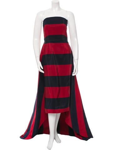 Michael Kors Silk Striped Gown