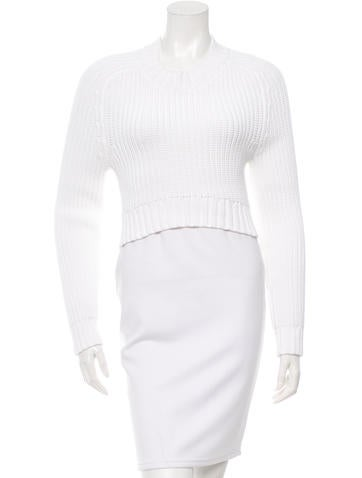 Michael Kors Cropped Crew Neck Sweater None