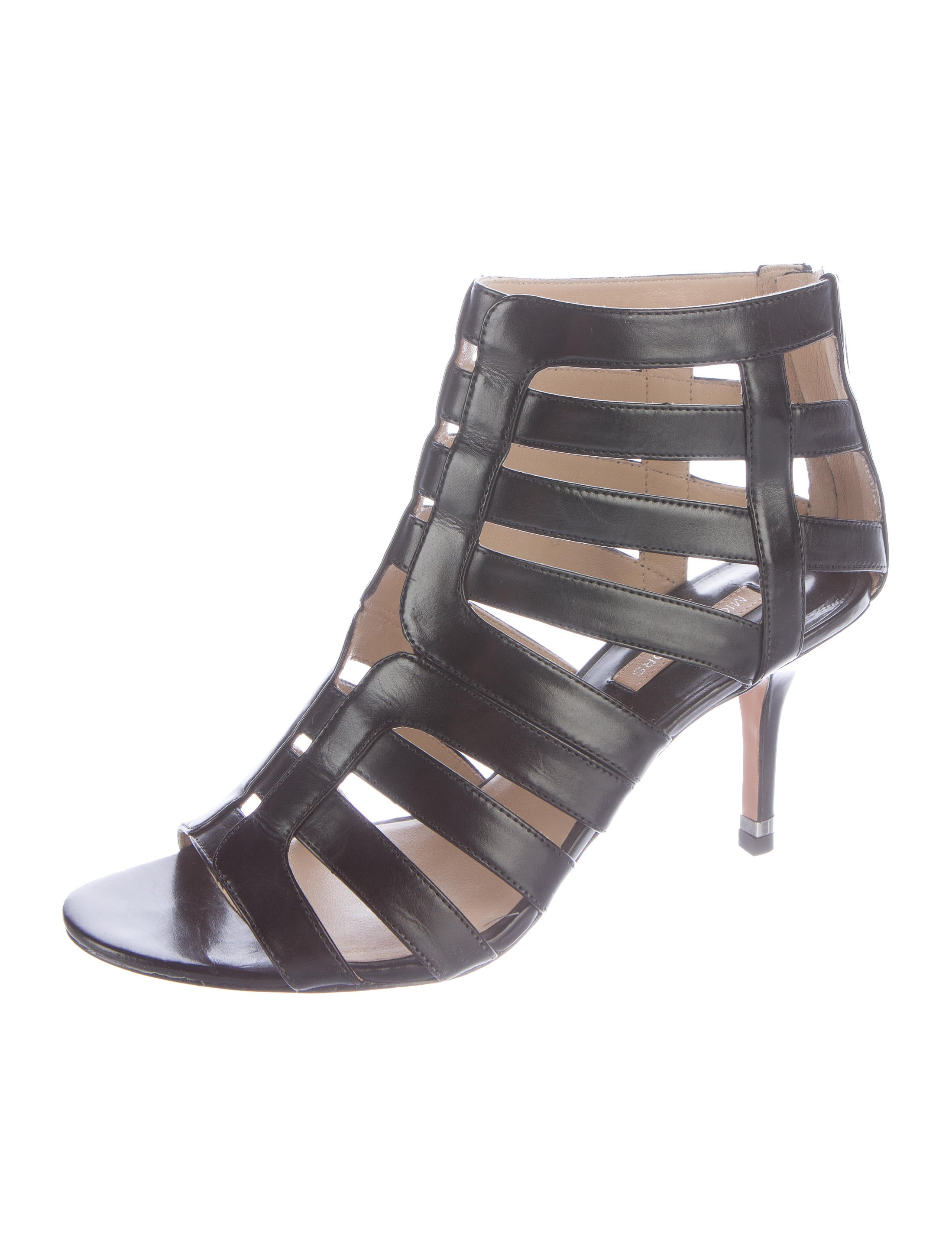 michael kors leather cage sandals shoes mic41941 the