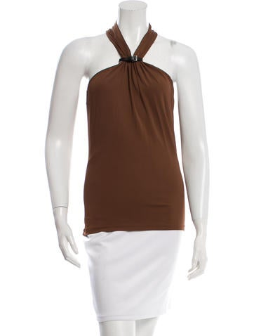 Michael Kors Belt-Accented Sleeveless Blouse