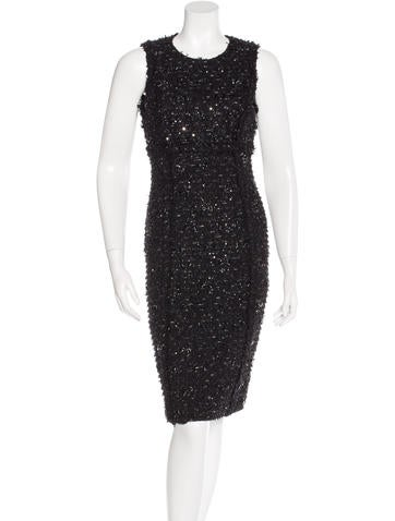 Michael Kors Embellished Sheath Dress None
