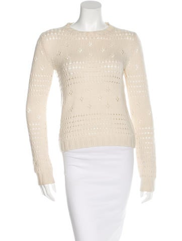 Michael Kors Cashmere Open Knit Sweater None