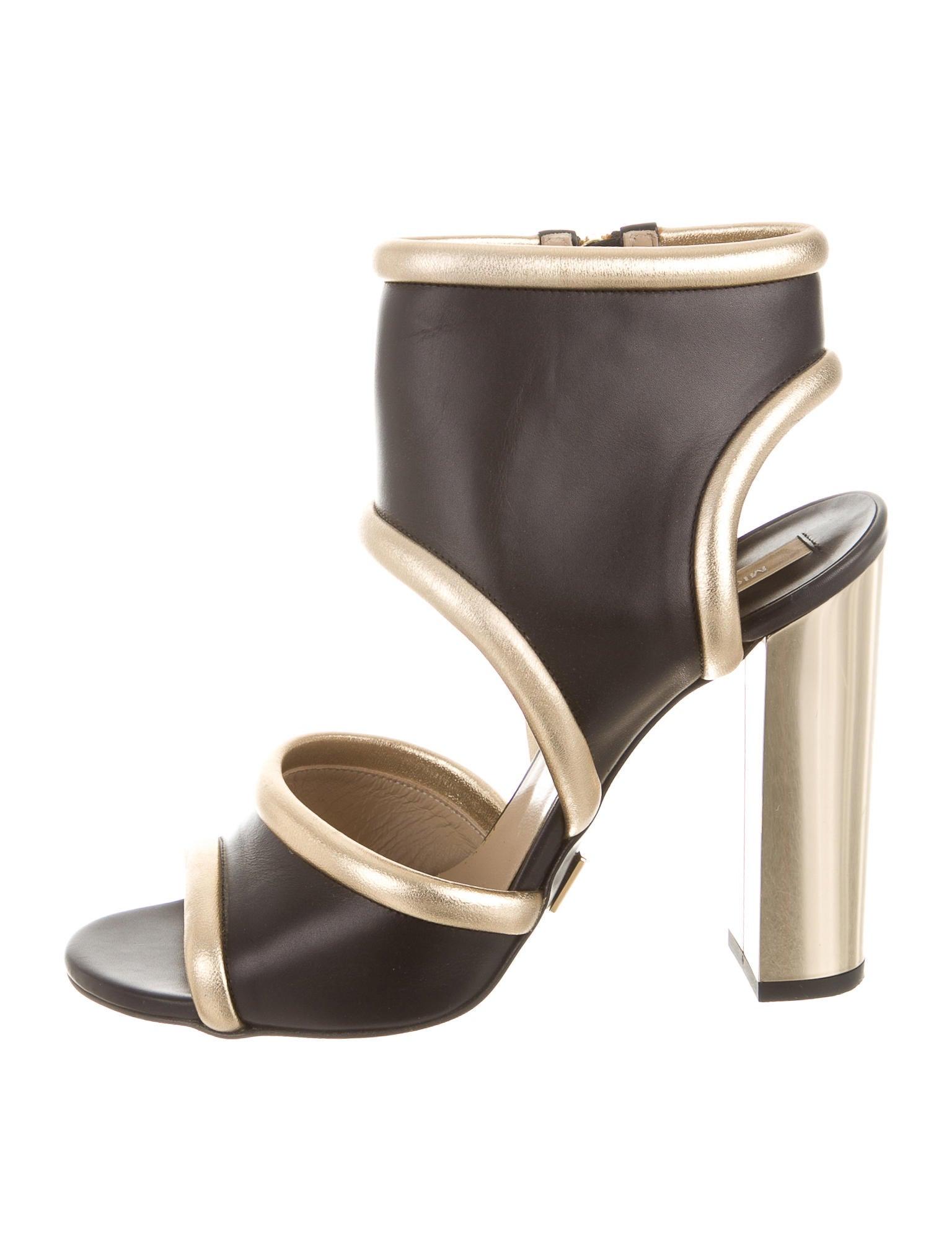 michael kors metallic leather sandals shoes mic42228