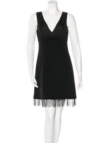 Michael Kors Lace-Trimmed Virgin Wool Dress