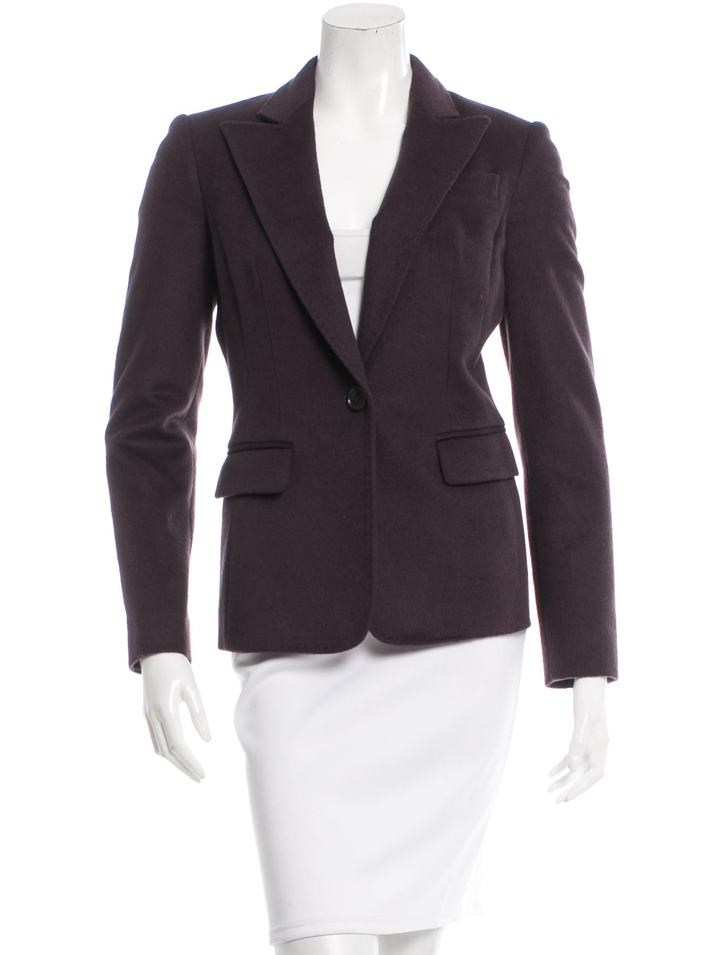 michael kors wool peak lapel blazer clothing mic42500 the realreal. Black Bedroom Furniture Sets. Home Design Ideas