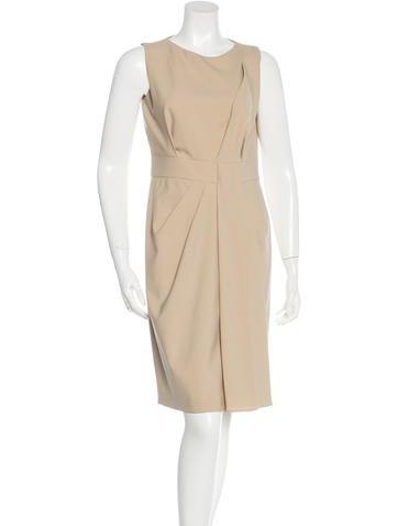 Michael Kors Wool Sleeveless Dress None