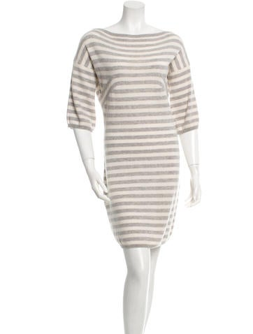 Michael Kors Striped Cashmere Dress None