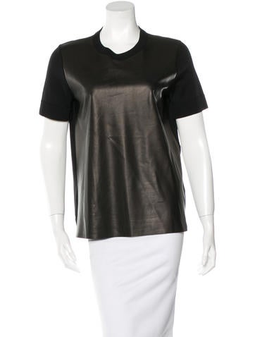Michael Kors Wool-Accented Short Sleeve Top None
