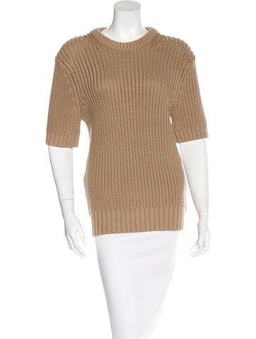 Michael Kors Rib Knit Short Sleeve Sweater None