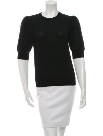 Michael Kors Wool & Angora Knit Top None